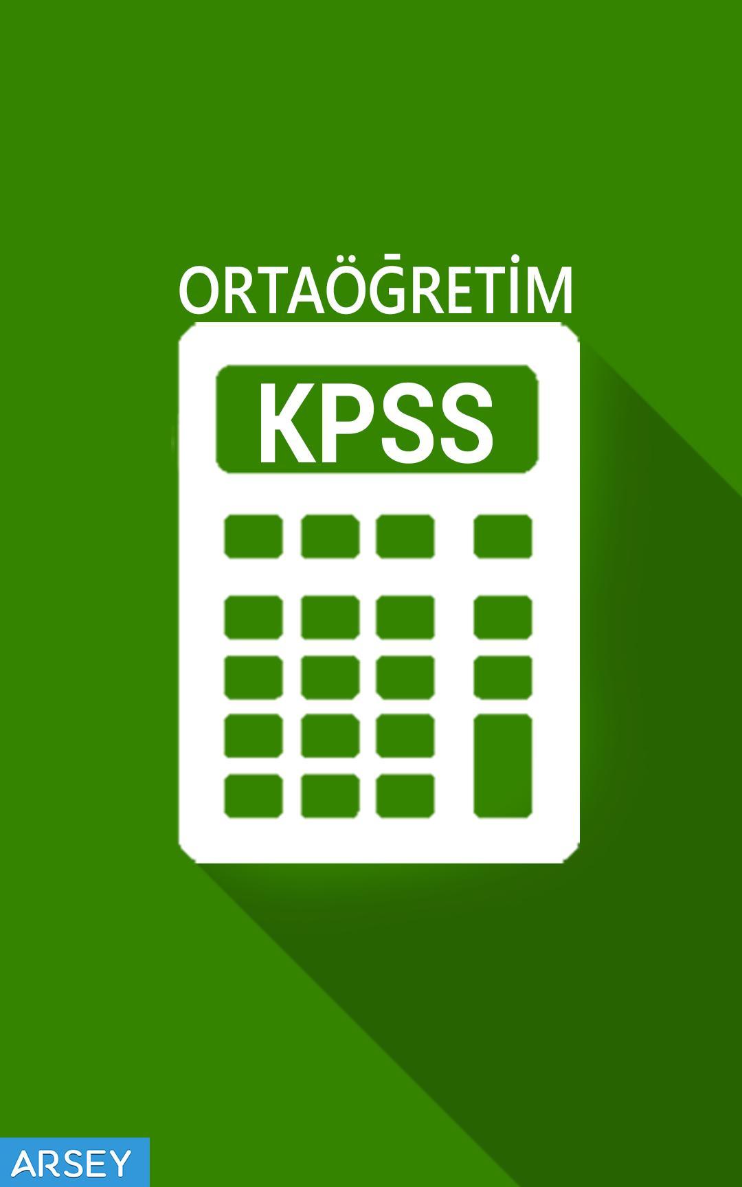 Android için KPSS Ortaöğretim Puan Hesaplama - APK'yı İndir