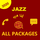 JAZZ  PACKAGES-Call, SMS & Internet Packages 2020 icon