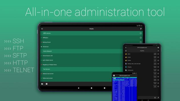 SSH/SFTP/FTP/TELNET Advanced Client - Admin Hands पोस्टर