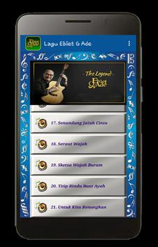 Lagu Ebiet G. Ade plus Lyric screenshot 3