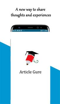Article Gure - Creative writings, stories, poems.. poster