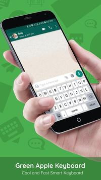 Green Apple Keyboard poster