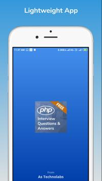 PHP developer Interview Questions Answers poster