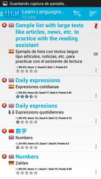 Learn Languages With Lists screenshot 1