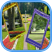 Nature photo frames dual: Photo editor & filters icon