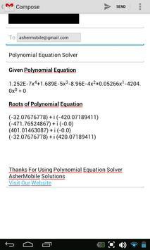 Polynomial Solver Free screenshot 5
