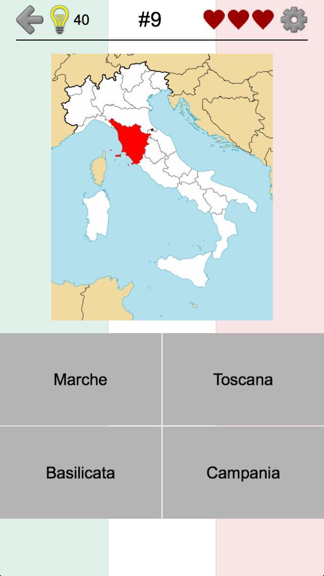 Cartina Italia Capoluoghi Di Regione.Le Regioni D Italia Mappe E Capoluoghi Italiani For Android Apk Download