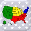 50 Bundesstaaten der USA - Hauptstädte und Karte