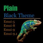 Plain Black Theme icono