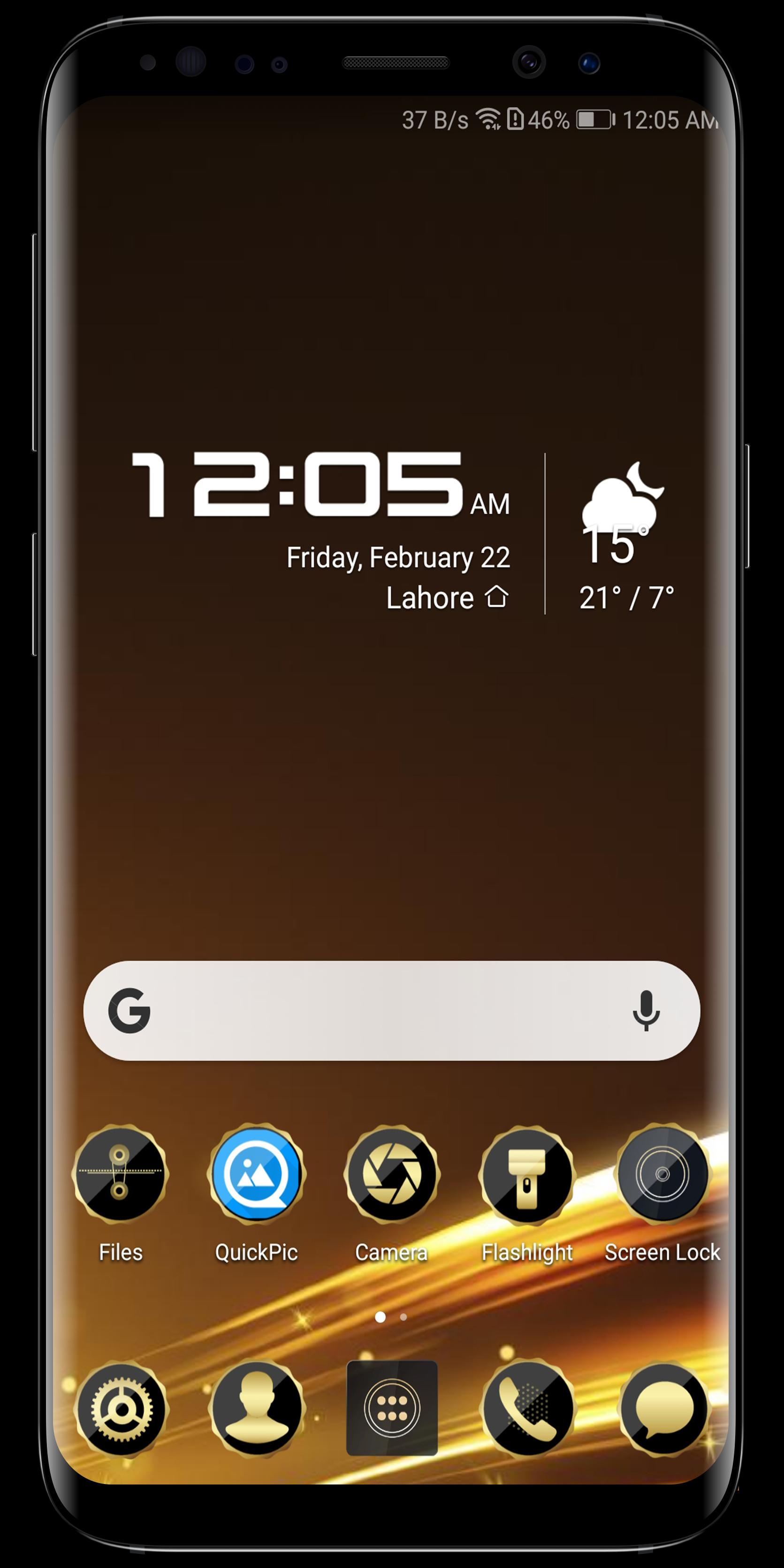 Golden Black Theme for Android - APK Download