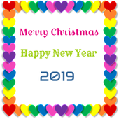 Christmas New Year 2019 Wishes Greetings icon
