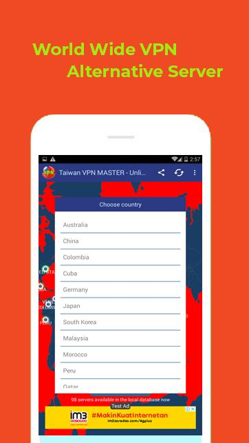 ❤️ Taiwan VPN MASTER - Free Unlimited VPN Proxy ❤️ for Android