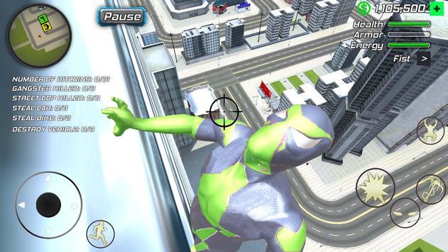 Rope Frog Ninja Hero - Strange Gangster Vegas تصوير الشاشة 5