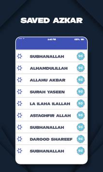 Contador digital Tasbeeh Aplicación Tasbih & Zikar captura de pantalla 2