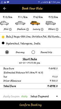 Aswa Cabs screenshot 3