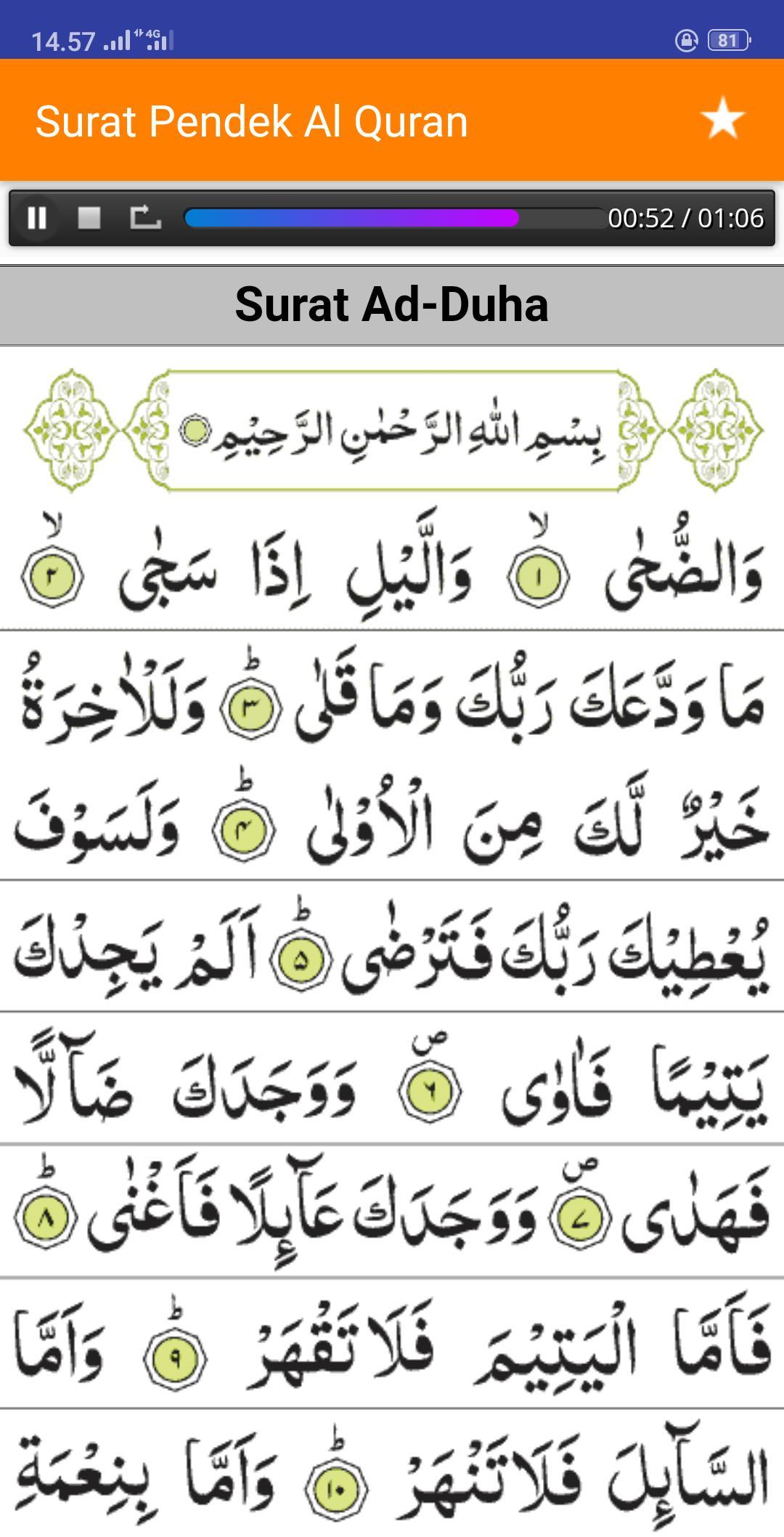 Surat Surat Pendek Al Quran Juz 30 Mp3 Offline For Android