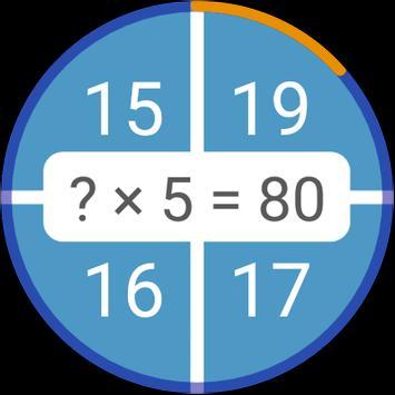 Permainan matematik: aritmetik, matematik mental syot layar 10