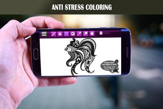 Adult coloring book : Animals Art screenshot 2