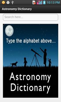 Astronomy Dictionary poster