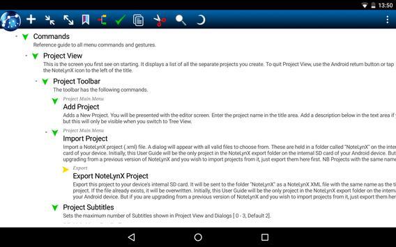 NoteLynX Pro Outliner Mindmap Wiki poster