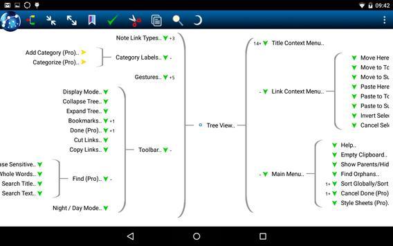 NoteLynX Pro Outliner Mindmap Wiki स्क्रीनशॉट 9