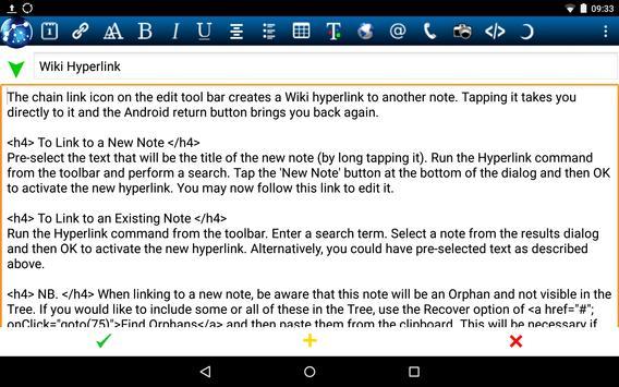 NoteLynX Pro Outliner Mindmap Wiki स्क्रीनशॉट 3