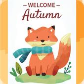 Cute Animals Card Wallpaper icon