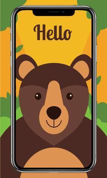 Cute Animals Card Wallpaper screenshot 8