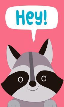 Cute Animals Card Wallpaper screenshot 1