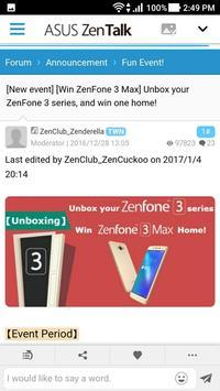 ASUS ZenTalk Community screenshot 4