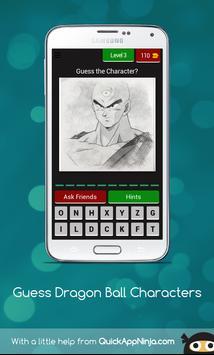 Guess The Dragon Ball Characters screenshot 3