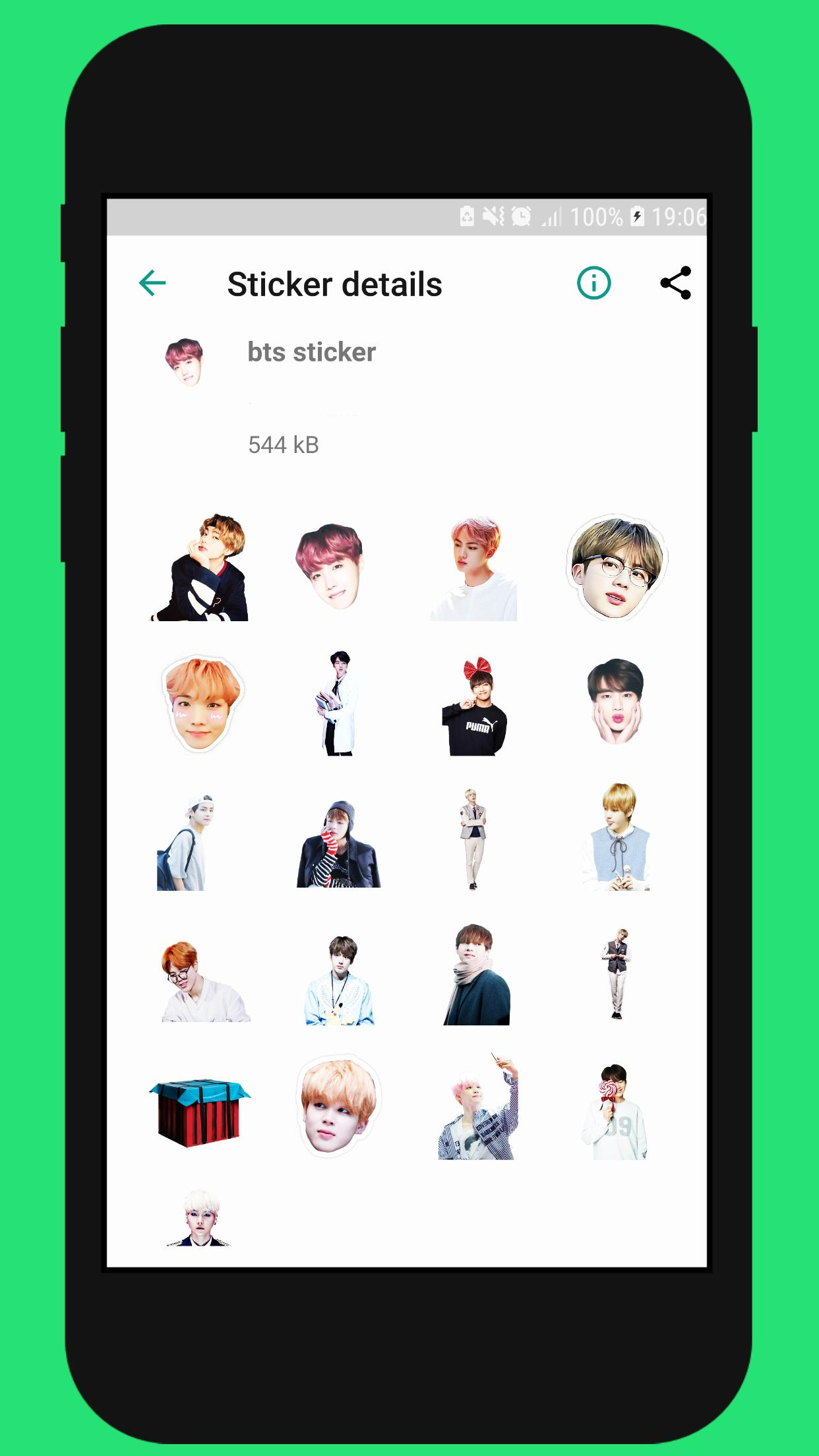 Wastickerapps Bts Kpop Stickers For Whatsapp For Android Apk