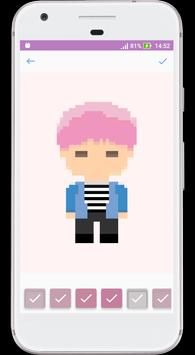 BTS Army Color Pixel : Coloring By Numbers Game screenshot 1
