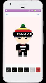 BTS Army Color Pixel : Coloring By Numbers Game screenshot 2