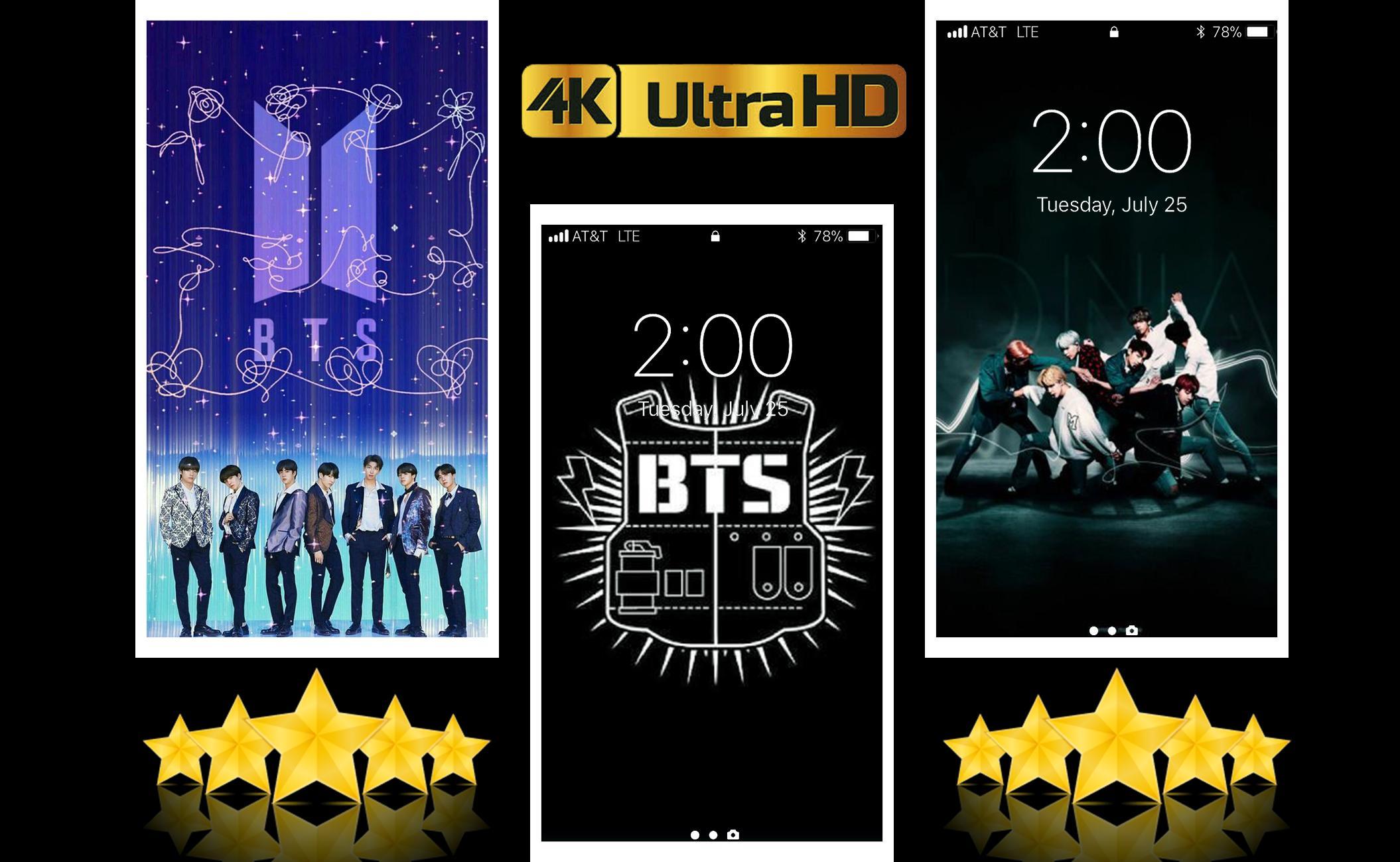 Bts 4k Wallpaper 2019 Bts Hd Music Lockscreen For Android