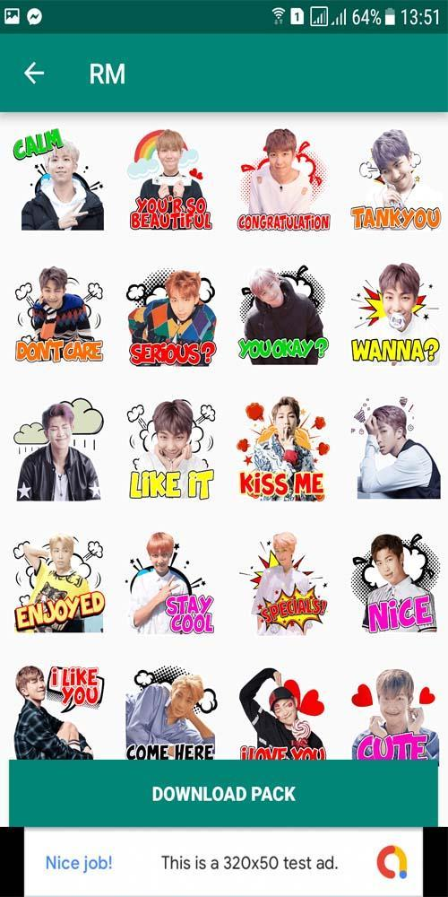 Bts Wa Sticker Bangtan Boys For Android Apk Download