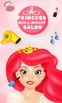 Princess Hair & Makeup Salon Poster
