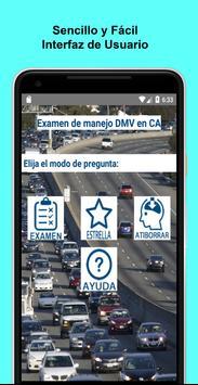 Examen de manejo DMV en CA Poster
