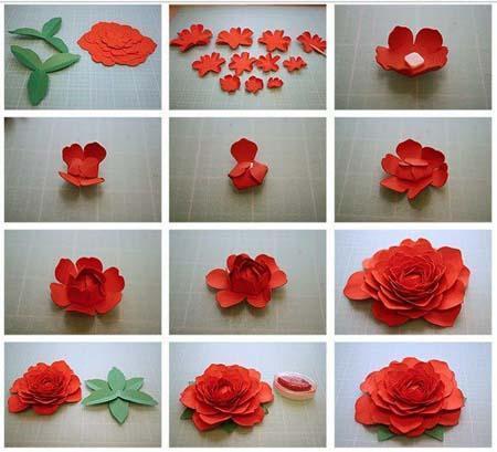 DIY membuat beberapa jenis bunga mawar dari kertas > Do it ... | 409x450