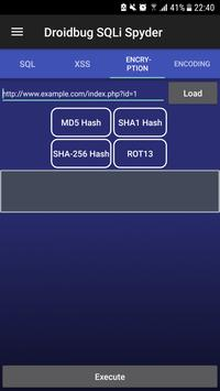 Droidbug SQLi Spyder FREE screenshot 6