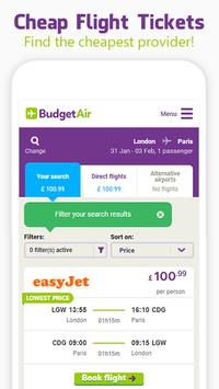 BudgetAir - Flights & Hotels screenshot 1