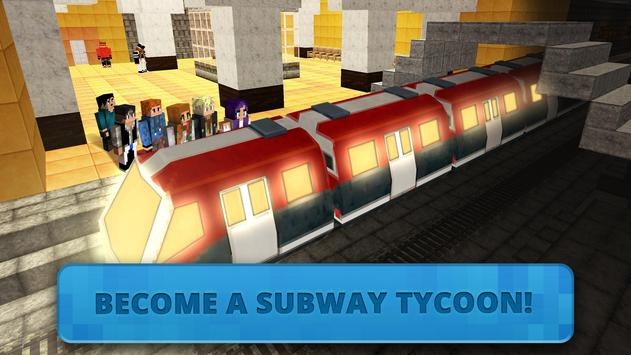 Subway Craft: Build Big City & Ride Block Train 3D screenshot 1