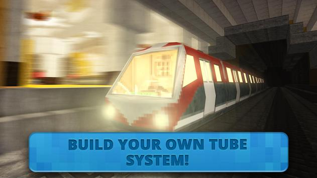 Subway Craft: Build Big City & Ride Block Train 3D screenshot 3