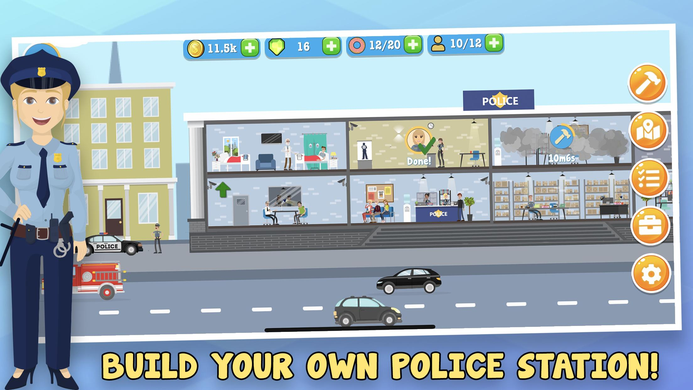 Police Inc: Tycoon police station builder cop game for ...