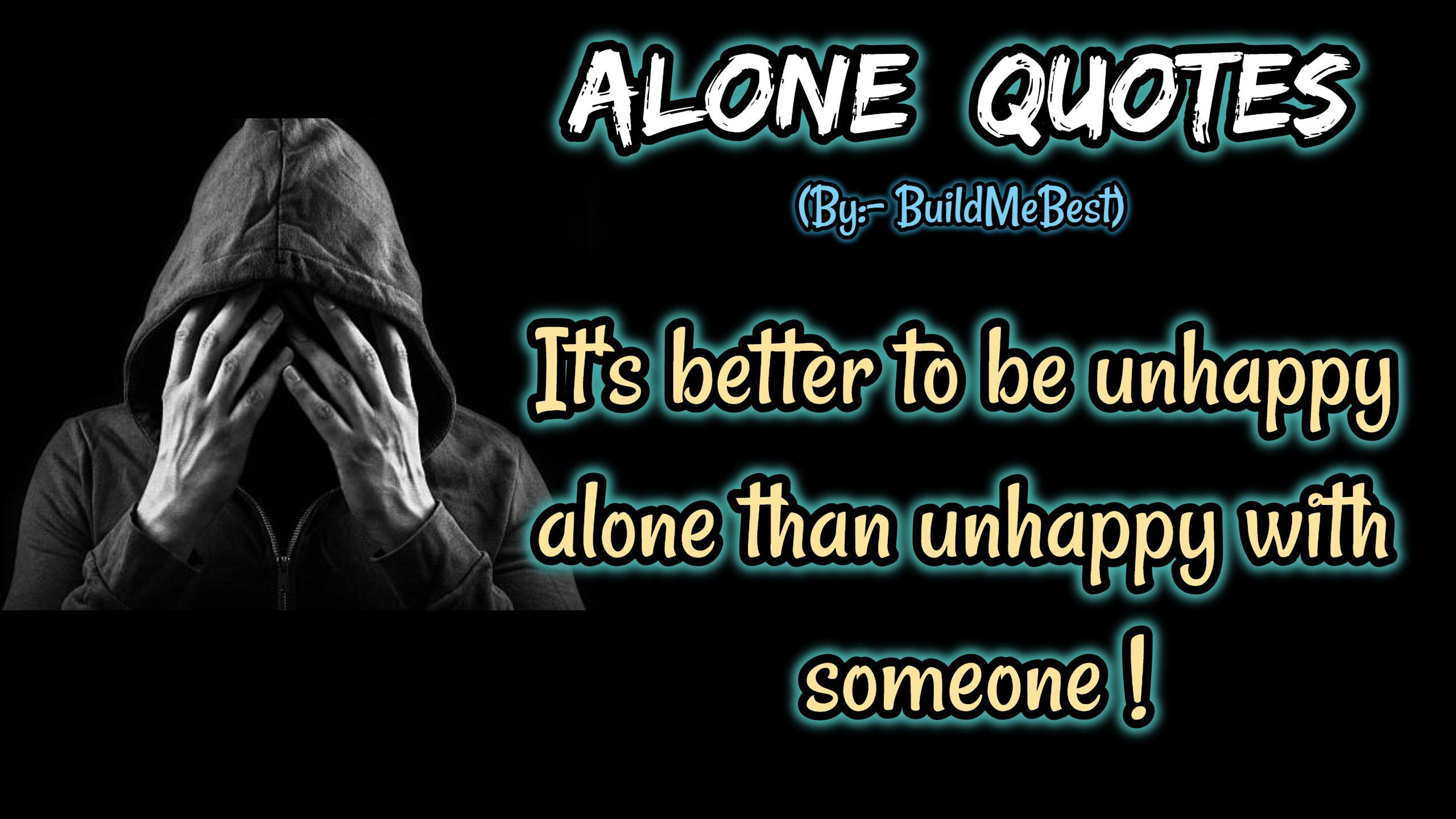 Feeling Alone Quotes - English Loneliness Status for Android