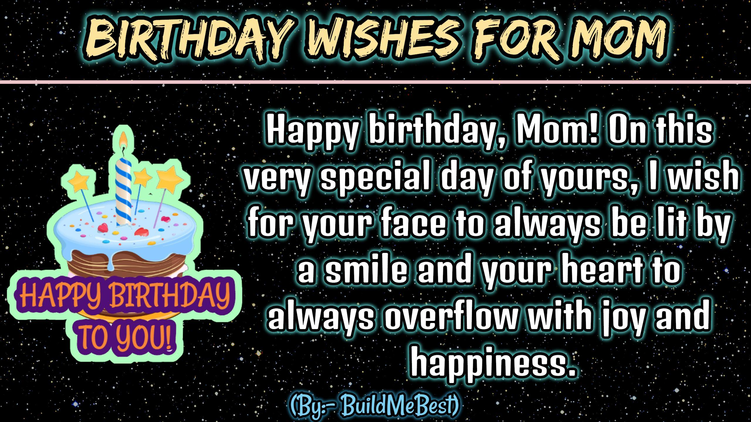 Incredible Birthday Wishes For Mother Mom Bday Greeting Card For Android Personalised Birthday Cards Paralily Jamesorg