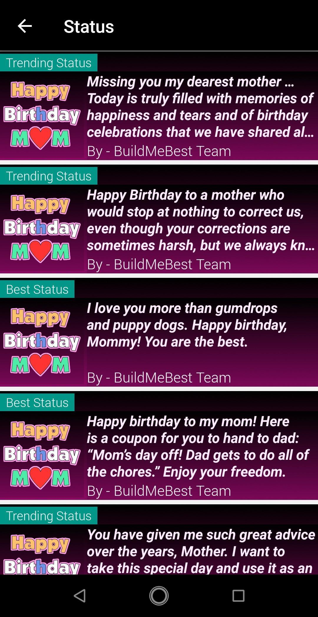 Birthday Wishes For Mother Mom Bday Greeting Card For