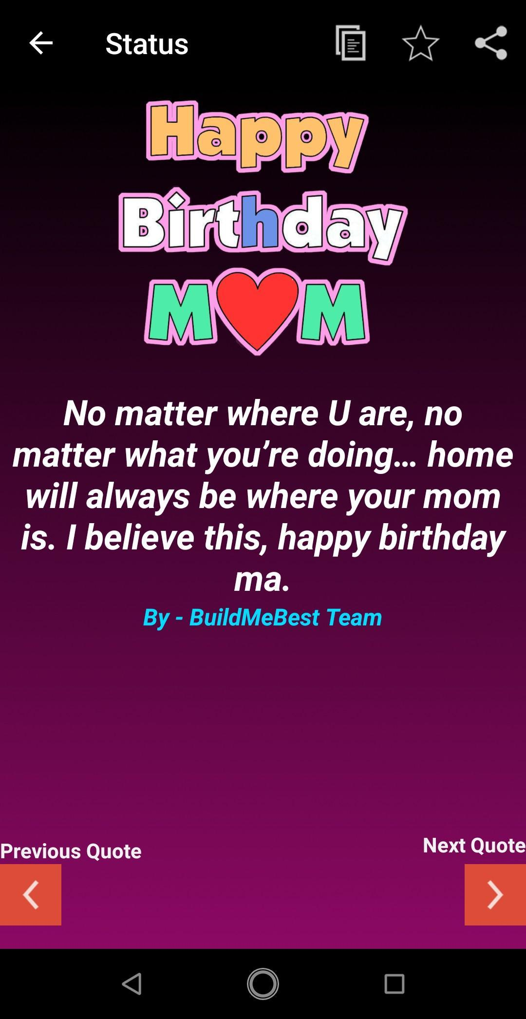 Stupendous Birthday Wishes For Mother Mom Bday Greeting Card For Android Funny Birthday Cards Online Fluifree Goldxyz
