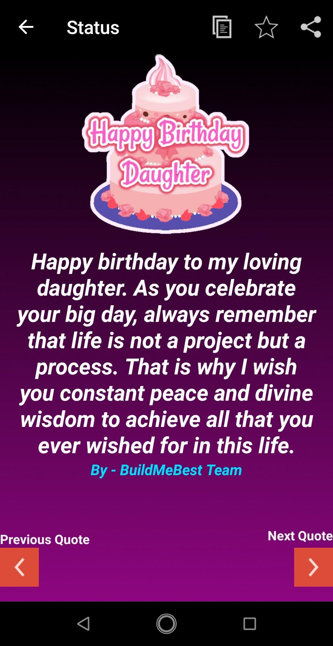Sensational Birthday Wishes For Daughter Greeting Card Quotes For Android Funny Birthday Cards Online Fluifree Goldxyz