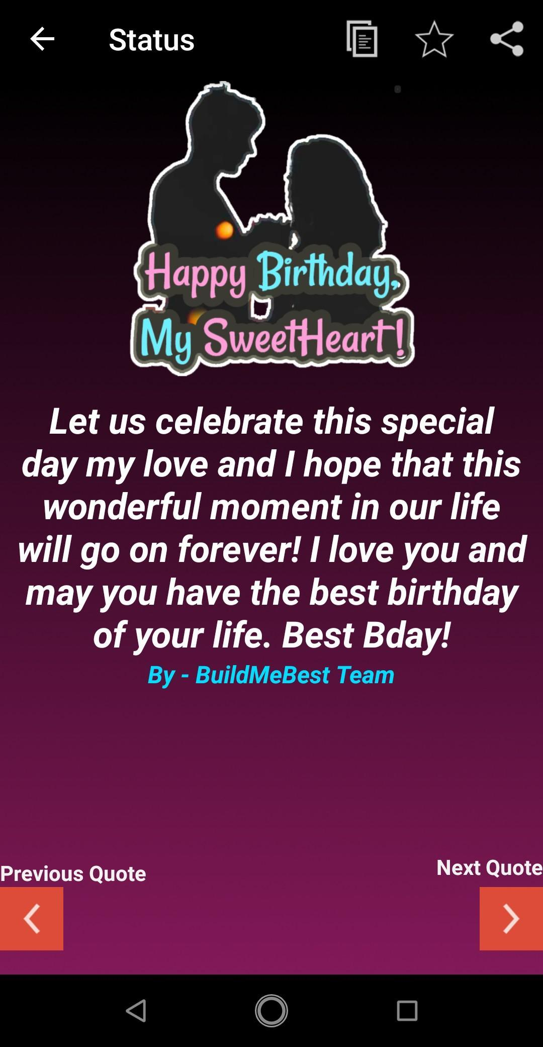 Awesome Birthday Wishes For Sweetheart Love Greeting Card For Android Funny Birthday Cards Online Fluifree Goldxyz
